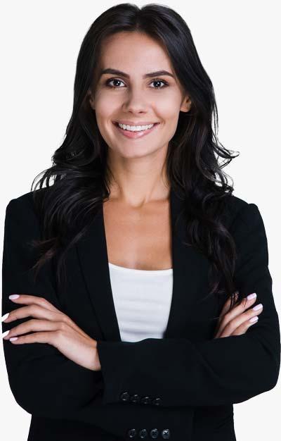 Smiling Female Tax Professional In Dark Blazer