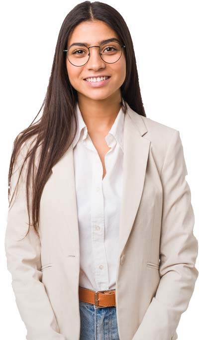 Smiling Female Tax Professional In Light Blazer