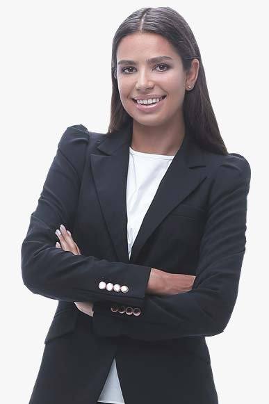 Smiling Female  Business Consultant In Dark Blazer