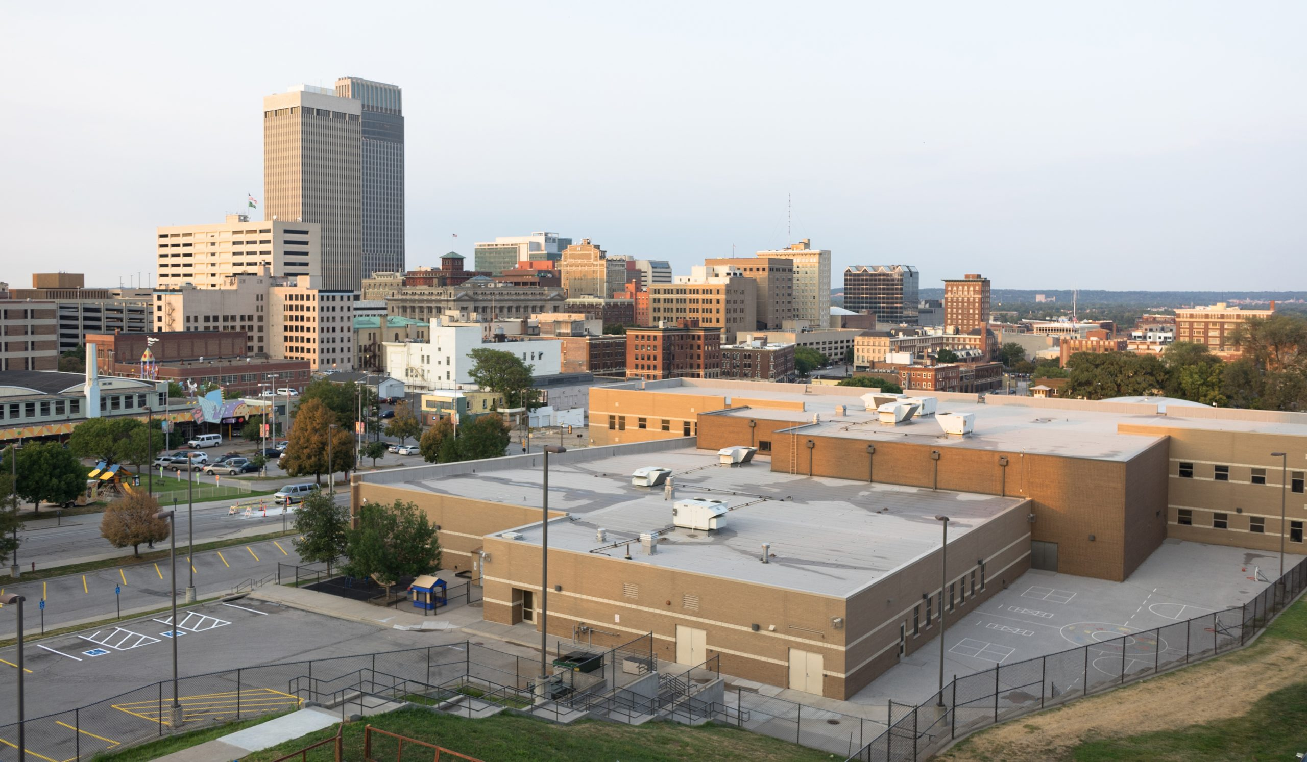Downtown City Skyline Omaha Nebraska Midwest Urban Landscape