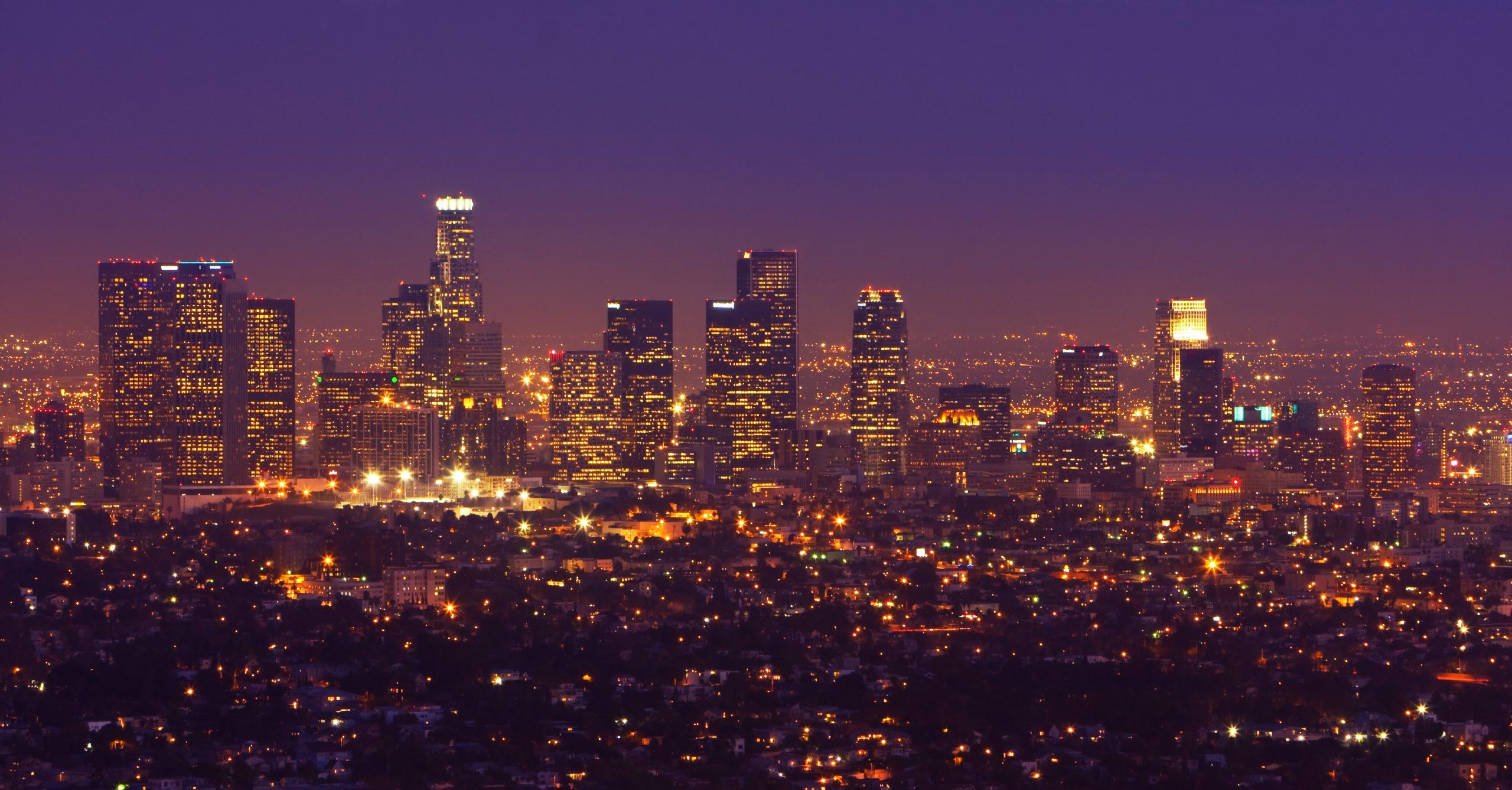 Los Angeles, Urban City at Sunset